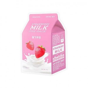 A'Pieu - Milk One Pack #Strawberry Milk - Mleczna maska